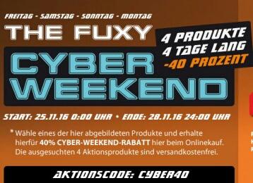 40% Rabatt beim Cyberweekend bei Fuxtec auf 4 Produkte.