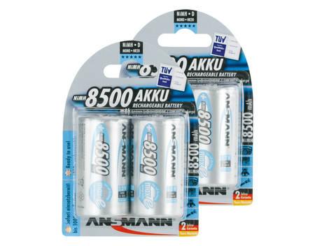 8,28€/Stück: 4 Stück ANSMANN maxE Mono D Akku 8500 mAh Ready To Use LSD [Allyouneed.de Mobile Energy]