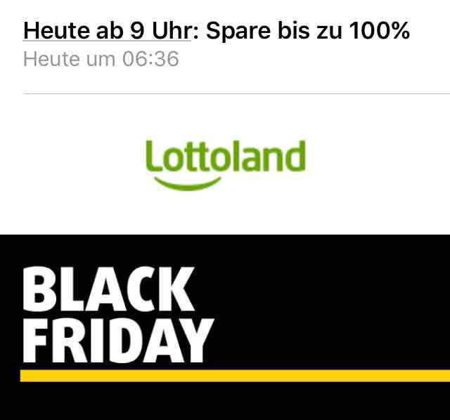 [Lottoland] Black Friday mit bis zu 100% Rabatt ab 9 Uhr - 1. Aktion 50% auf Eurojackpot