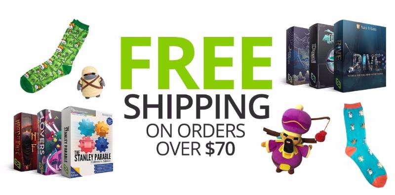Kostenloser Versand ab 70$ und Black Friday Sale