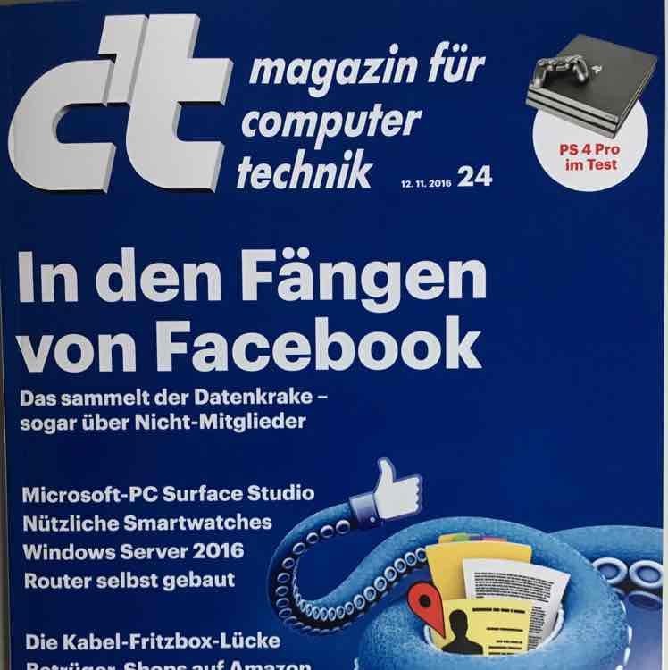 c't ct und Frankfurter Allgemeine Woche heute (25.11.16) gratis mit der eazers App