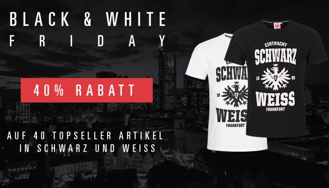Black & White Friday bei Eintracht Frankfurt - 40% Rabatt auf schwarz-weisses