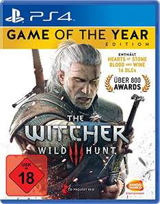 The Witcher 3: Game of the Year Edition (inkl. Hearts of Stone und Blood & Wine) (PS4 / XBO) für 24,27 € @amazon