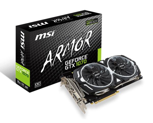 MSI GeForce GTX 1070 Armor 399€ zzgl. Versand