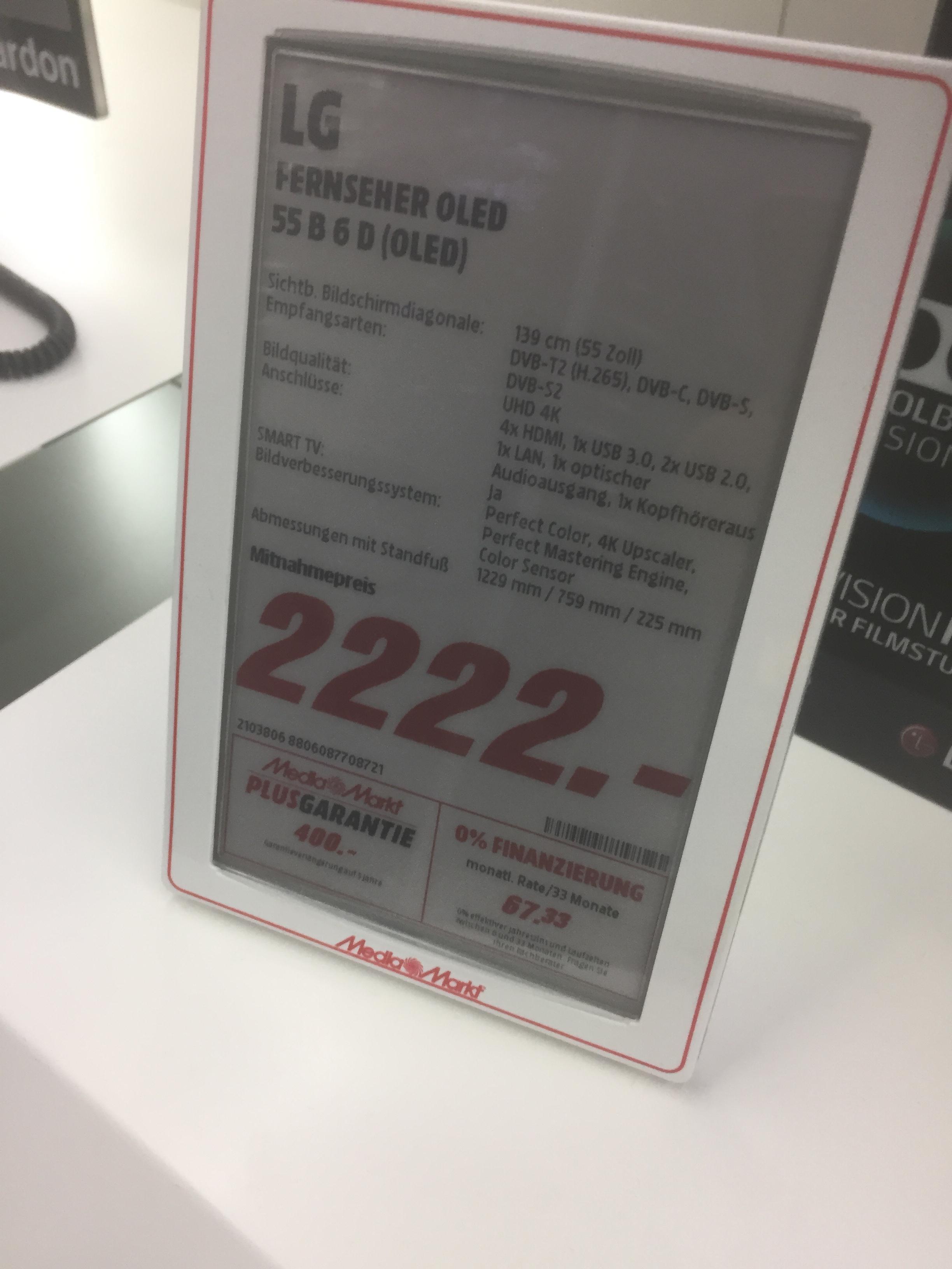 Mediamarkt Elmshorn: LG OLED 55 B 6