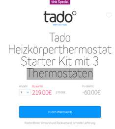 Tado - Heizkörperthermostat Starter Kit mit 3 Thermostaten [ Black Friday 2016 ] [ Best Preis ] ]