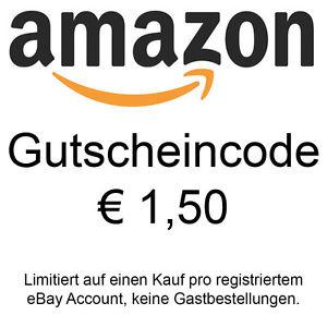 1,50 € Amazon Gutschein für 1€ bei Ebay