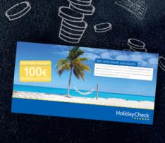[abosgratis/Sammeldeal/Frauenmagazin] 100€ HolidayCheck-Gutschein (ohne MBW) gratis zur Abobestellung - ab 2,60€ Gewinn (als Weihnachtsgeschenk für Mutti, Omi, Tante etc. durch Direktpreise)