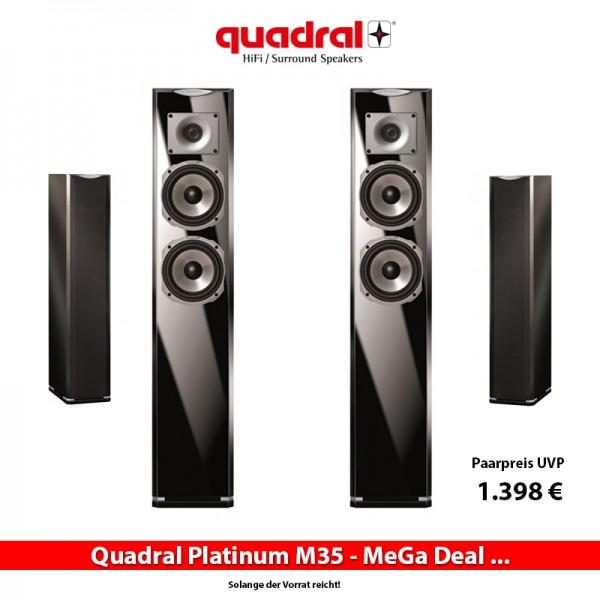 Quadral Platinum 5.0 bestehend aus 2x M35, 2x M20, 1x M10 in weiß/schwarz