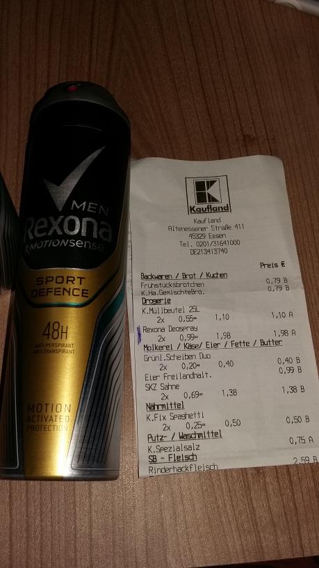 Rexona Deodorant alle Sorten 150ml für 0,99€(Kaufland seit dem 24.11 bis 30.11.2016)