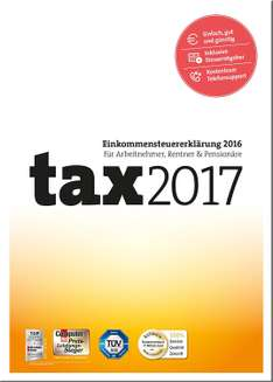 Tax 2017 Steuererklärung für 2016