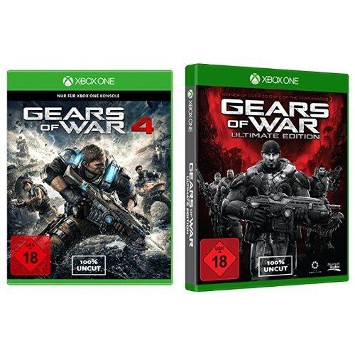 Gears of War 4 + Gears of War: Ultimate Edition [Xbox One] aktuell für nur 39,97 EUR + 5 EUR Versand / Vergleichspreis ca. 60 EUR
