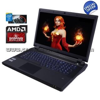 CLEVO P370SM-A (17,3 FHD matt, i7-4800MQ, 8GB RAM, 250GB 850 Evo + 500GB HDD, Radeon R9 M290X mit 4GB, Wlan ac + Gb LAN, Thunderbolt, bel. Tastatur, Wartungsklappe, Win 10 Pro) für 895€ [CEG]