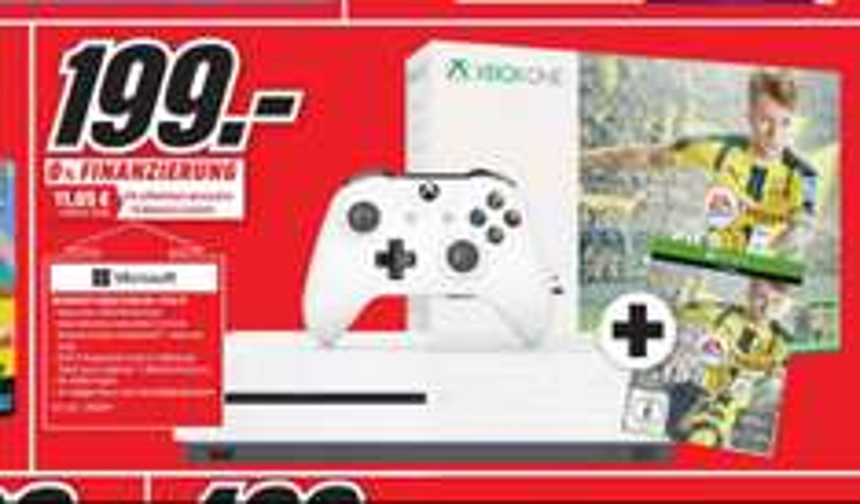 Lokal Osnabrück Belm:Xbox one S + FIFA 17 für 199 Euro