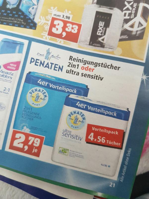 Penaten Reinigungstücher 4x56 (224stk.) Thomas Philips