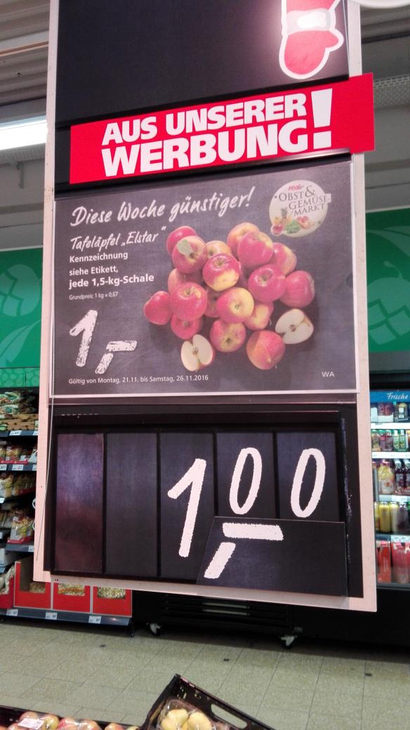 [Real Groß-Zimmern lokal?] Elstar (Äpfel) 1,5 kg für 1 €! (67 ct/kg)