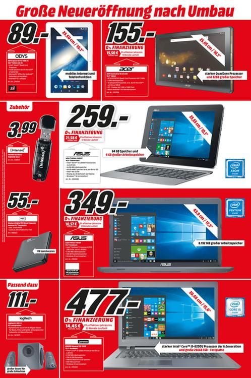 ASUS T100HA mit 4GB RAM und 64GB Speicher - Media Markt Köln Kalk