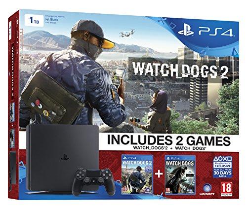 PS4 Slim 1TB + Watch Dogs 2 + Watch Dogs für ~275,95€ [Amazon.co.uk]