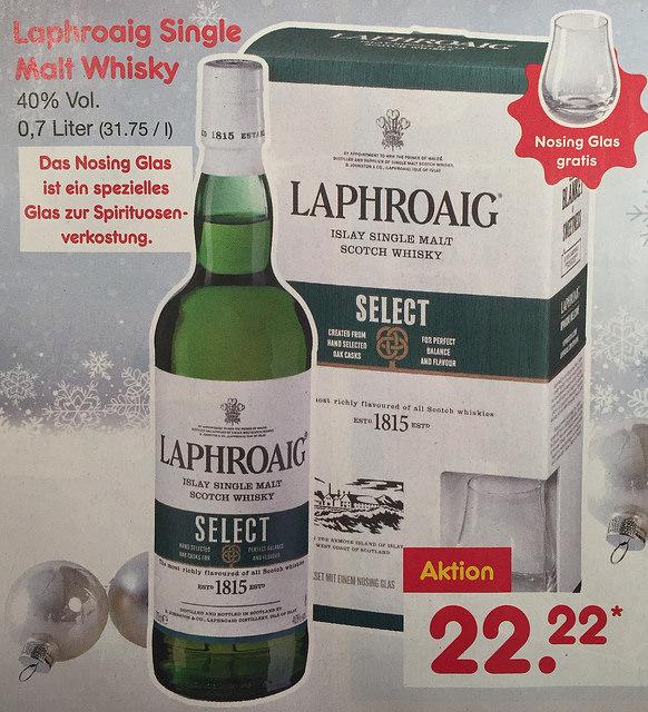 [Netto Markendiscount] Laphroaig Select 0,7l incl. Nosing Glas ab Montag 28.11.