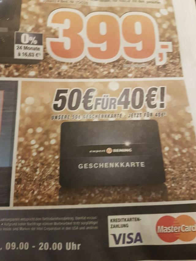 Expert Bening: 50 Euro Geschenkarte für 40 Euro!
