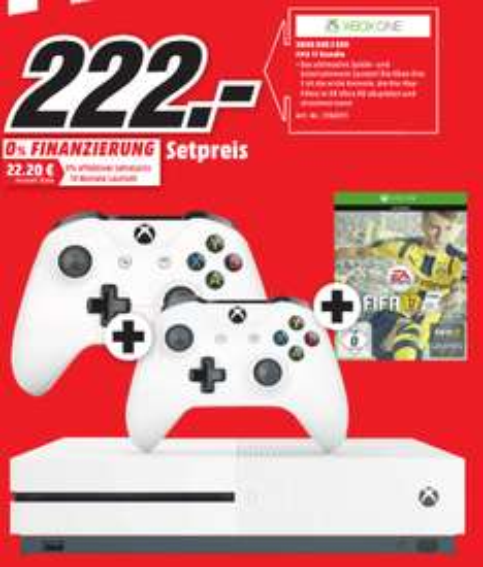 [Lokal Frankfurt] MediaMarkt - Xbox One S 500GB + FIFA 17 + 2. Controller für nur 222€ !!