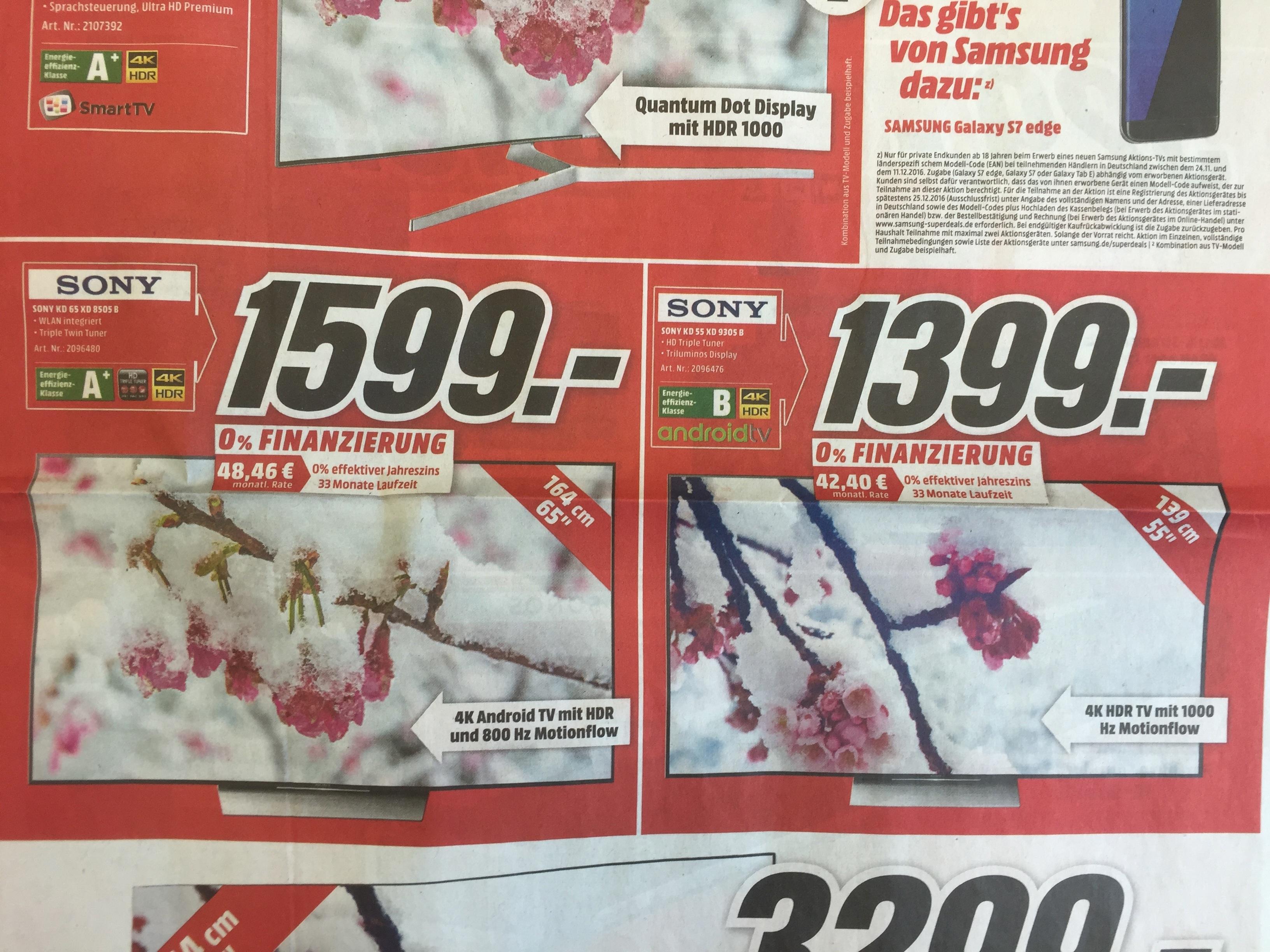 (Umbau-Werbung LOKAL MM Köln Kalk) Sony 55 XD 9305