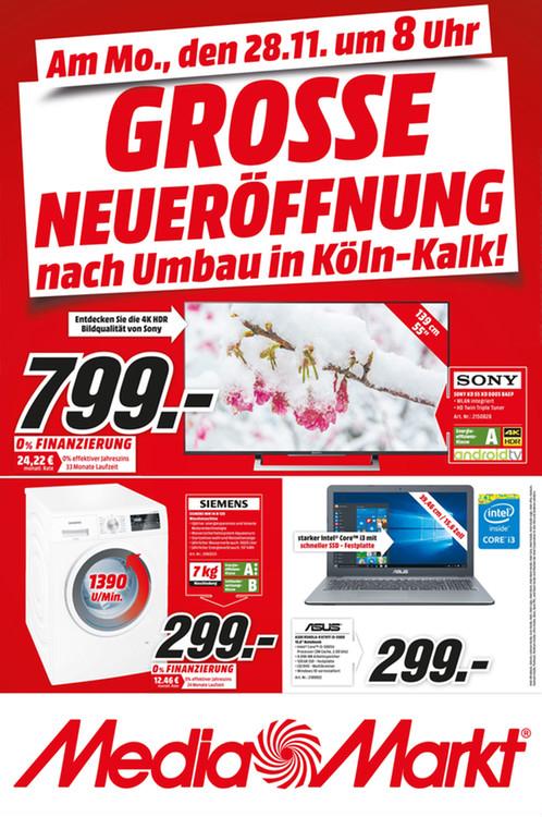 (Umbau-Werbung LOKAL MM Köln Kalk) Sony 55 XD 8005