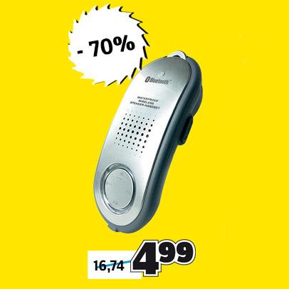 [CONRAD] Bluetooth Lautsprecher für die Badewanne für 4,99€ mit oder ohne Versand oder 5,39€ bei Filialabholung
