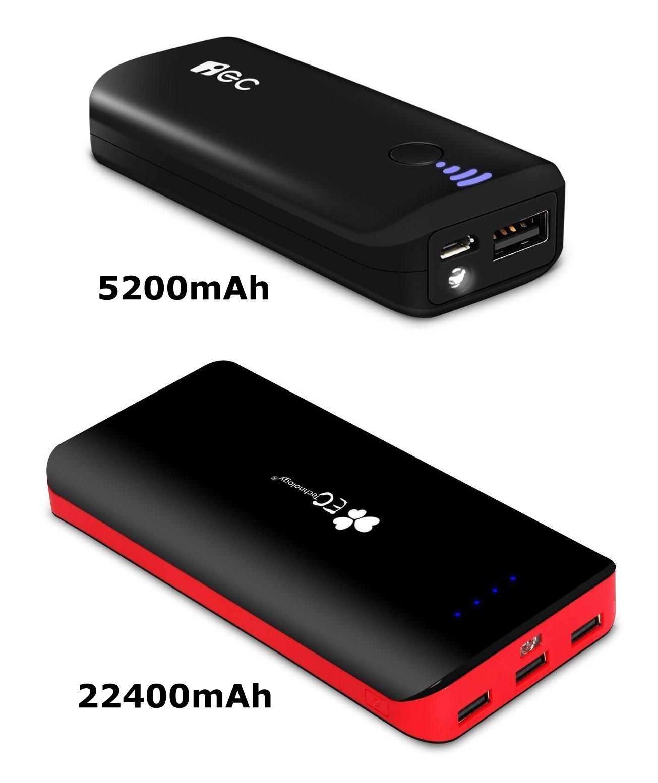 EC Technology 5200mAh Powerbank für 3,99 Euro oder 22400mAh für 19,99 Euro [amazon.de Prime]