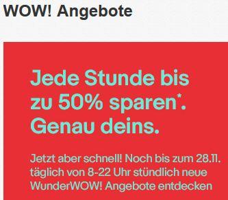 SONNTAG: eBay WunderWOW Angebote mit Preisen