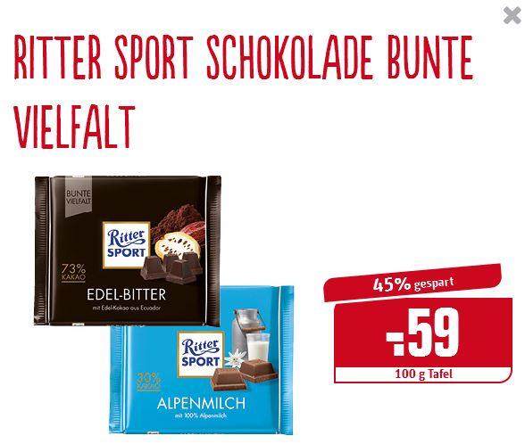 """[Rewe Dortmund] - Ritter Sport """"Bunte Vielfalt"""", ab Do. 1.12. , 0,59€"""