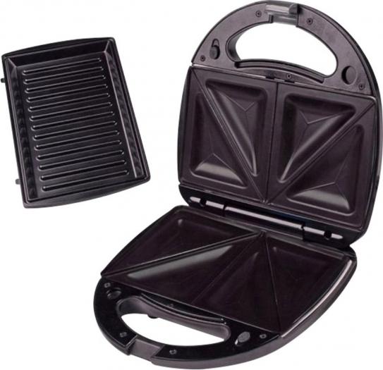 Sandwichmaker + Grillplatten 750W mit wechselbaren Platten 9,99 € statt 23,46 € [Voelkner]