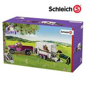 Real online und offline(39,95€)  Schleich Pick-up Pferdeanhänger mit Newslettergutschein, VSK-frei ab 28.11.