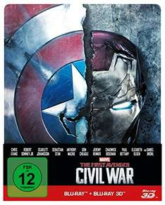 Amazon und Saturn: The First Avenger - Civil War: 3D+2D Steelbook Edition [3D Blu-ray] für 19,99€