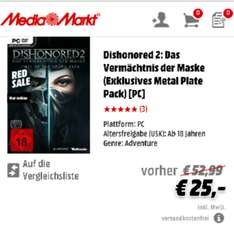 Dishonored 2 Red Sale Media Markt