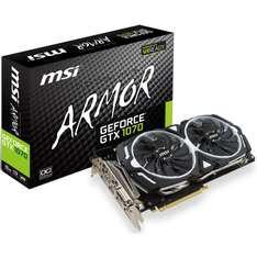 ARLT FRIDAY DEALS: MSI GeForce GTX 1070 Armor 8G OC inkl. 60 Euro Sofortrabatt