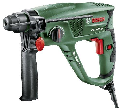 Blitzangebot: Bosch DIY Bohrhammer PBH 2100 RE, Tiefenanschlag, Zusatzhandgriff, Koffer  63,90 Euro