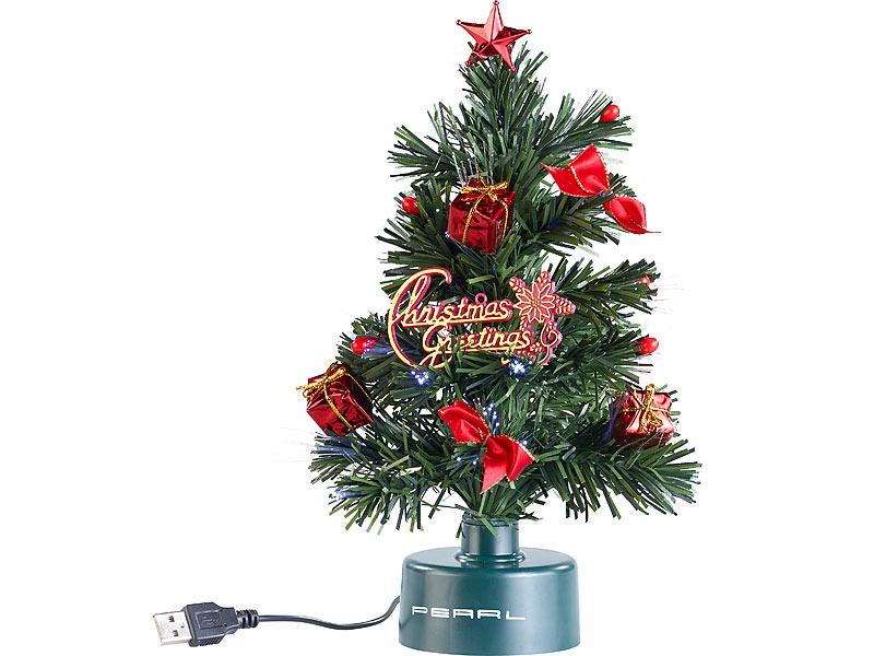 GRATIS: PEARL USB-Weihnachtsbaum mit Farbwechsel-Glasfaser-Lichter + 4,90 Versand (statt €14,80)