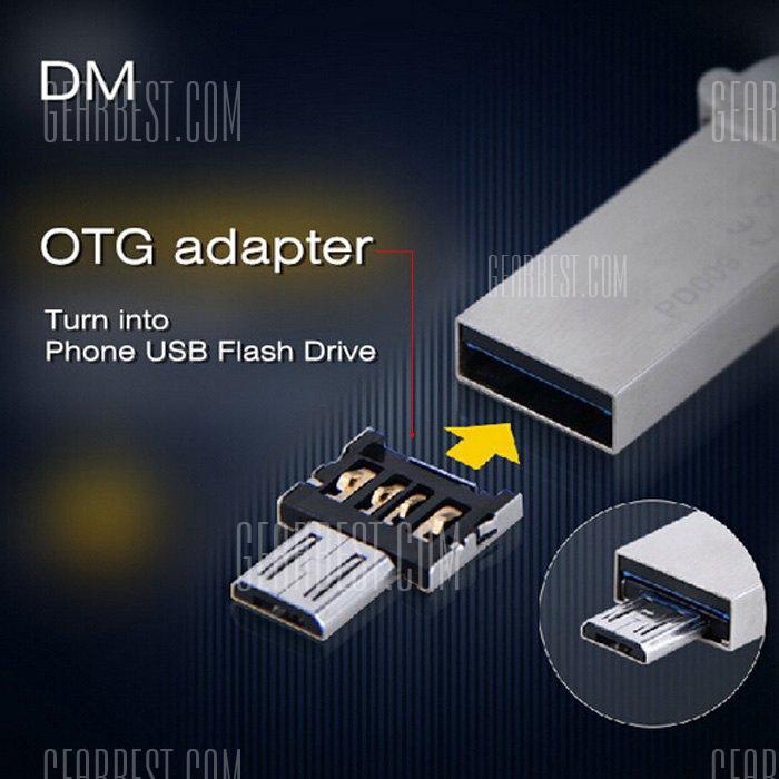 [gearbest] DM USB to Micro USB Male OTG Adapter  -  SILVER für 0,09€ inkl. Versand