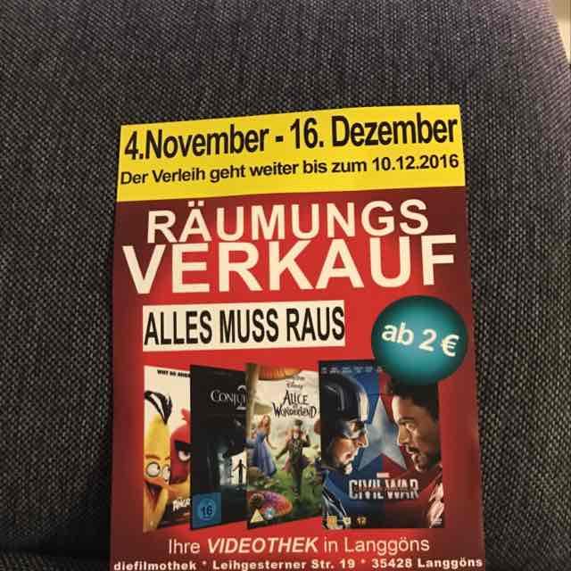Räumungsverkauf in Gießen Langgöns