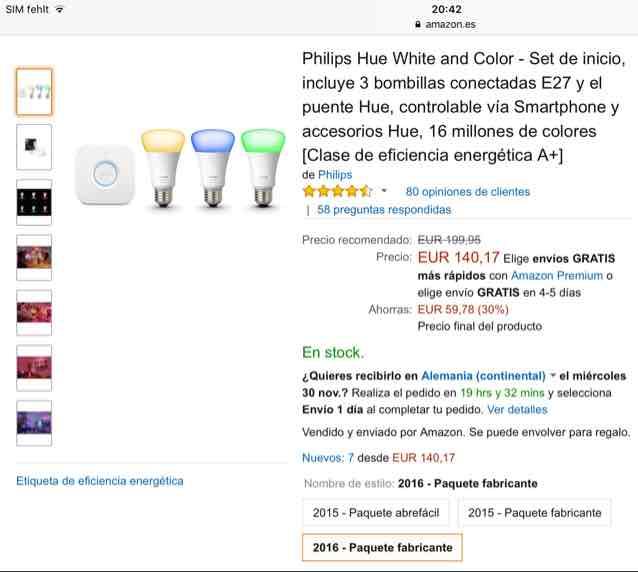 Philips hue Set White and Colour 2016er Modell