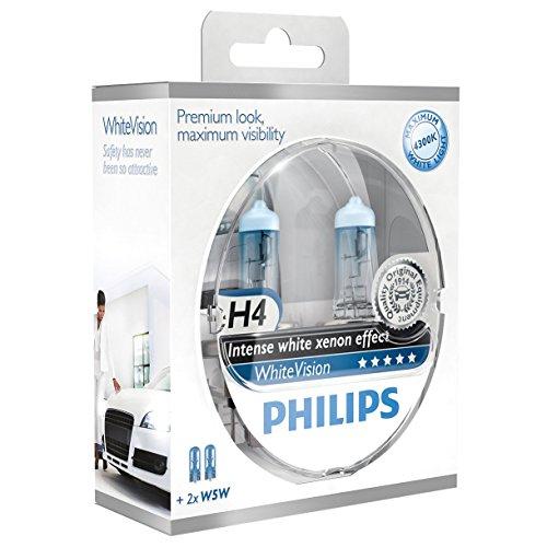 Philips WhiteVision Xenon-Effekt H4 (incl 2x 5W5) - Glühlampen fürs Kfz Scheinwerfer (Amazon Blitzangebot)