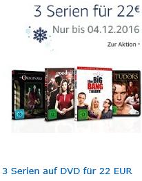 3 Serienstaffeln auf DVD für 22 EUR nur bis 04.12.2016