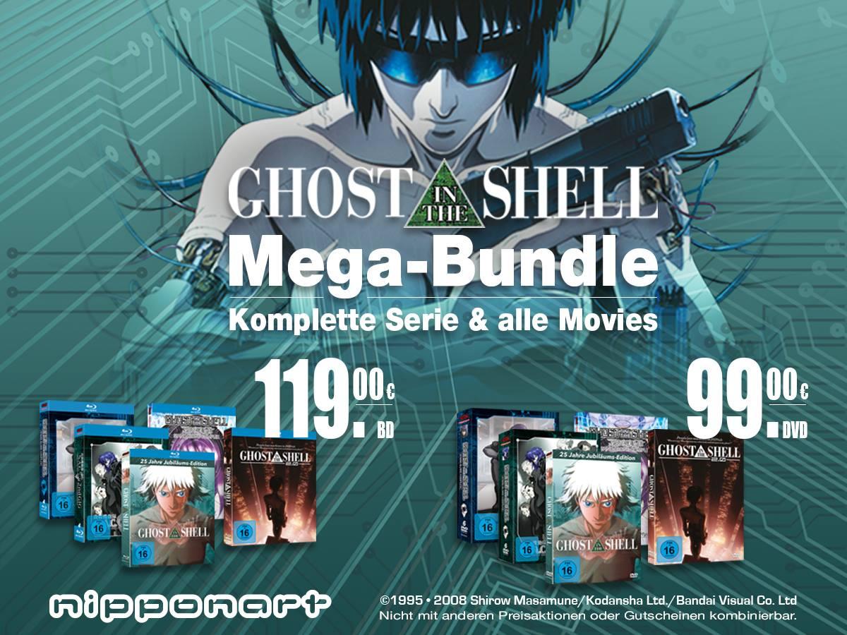 (Nipponart) Ghost in the Shell  [Filme+Serie Bundle] (DVD/Blu-ray) für 99€/119€