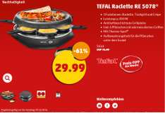 Tefal Raclette mit Grill und Crepe RE 5078 ab 3.12 bei Penny 29,99€