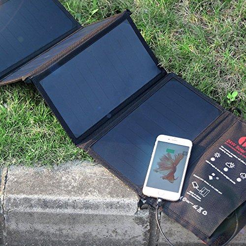 24 Watt USB Ladegerät mit Solarzellen - Leistungsstarkes Outdoor Ladegerät
