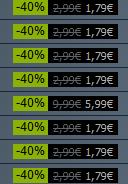 Steam Rocksmith DLC 40% off