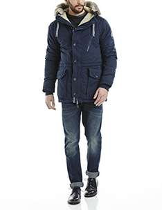Bench Herren Parka Jacke BREATH, Gr. Medium, Blau (Dark Navy Blue NY031)