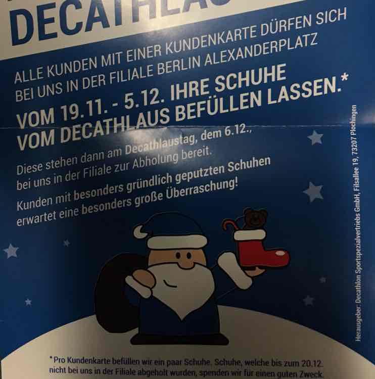 [lokal Berlin?] gefüllte Stiefel zum Nikolaus von Decathlon - Decathlaus