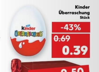 ab 1.12 Ferrero Kinderüberraschung Ü-Eier